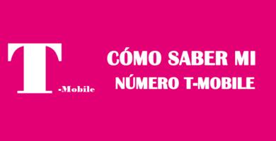 cómo saber mi número de celular t mobile