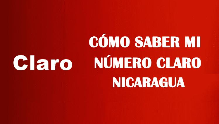 Cómo saber mi número Claro Nicaragua sin saldo gratis
