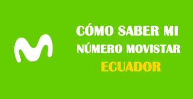Cómo saber mi número movistar Ecuador