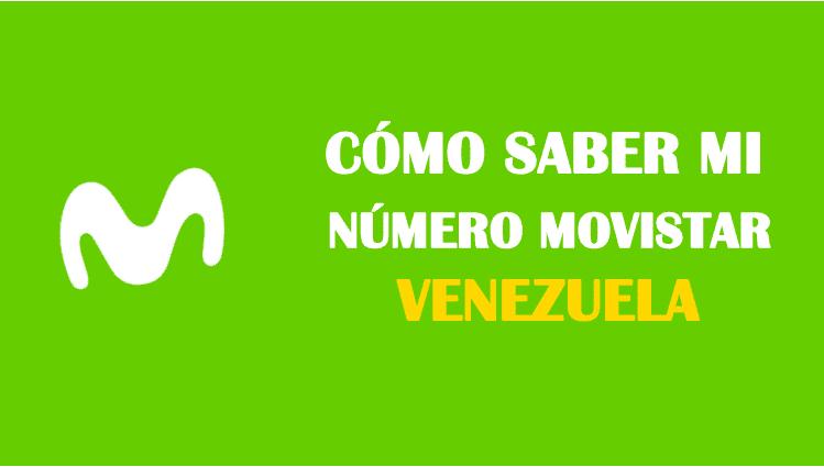 Cómo saber mi número Movistar Venezuela sin saldo gratis