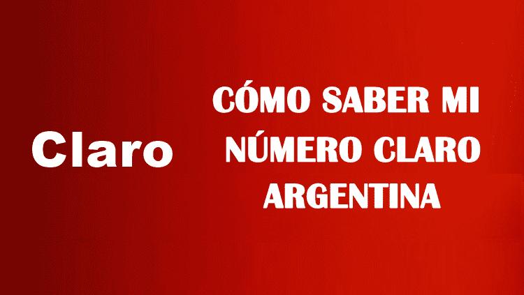 Cómo saber mi número claro argentina sin saldo