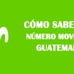 Cómo saber mi número movistar guatemala sin saldo gratis