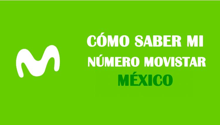 Cómo saber mi número Movistar México sin saldo